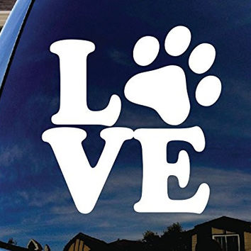 CMI258 Love Paw Dog Cat Family Car Window Vinyl Decal Sticker 4""