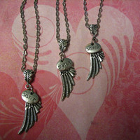 Three Sisters Angel Wing Necklaces Big Sister Middle Sister Little Sister