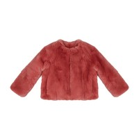 Burberry Jessika Fur Coat Antique rose| Harrods