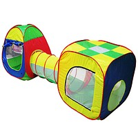 Baby Playing House Toys Storage Tent 3pcs Pop-up Play Tent Children Tunnel Kids Adventure House Toy