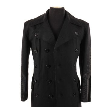 Vintage Jean Paul Gaultier Wool Jacket with Embroidered Sleeves
