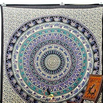 ICIKJG2 #a Mandala Indian Boho Wall Carpet Beach towel square tapestry and beach mat fashion vogue Rug Beach mat china style Cape
