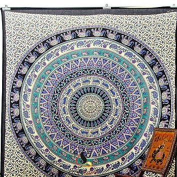 MDIG9GW #a Mandala Indian Boho Wall Carpet Beach towel square tapestry and beach mat fashion vogue Rug Beach mat china style Cape