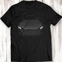 Audi Quattro Headlights T-Shirt Tees Women Men Gift Idea Present Laser Lights Sport Garment Apparel T-Shirt