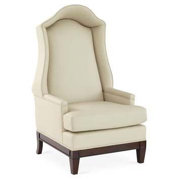 Bonnet Leather Wingback Chair, Wingbacks