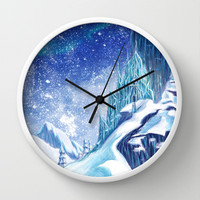 ~Frozen .:A Kingdom of Isolation:. Wall Clock by Kimberly Castello