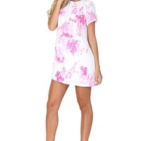 White Floral Silky Shirt Dress at Blush Boutique Miami - ShopBlush.com : Blush Boutique Miami – ShopBlush.com
