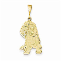 14k Beagle Pendant, Best Quality Free Gift Box Satisfaction Guaranteed