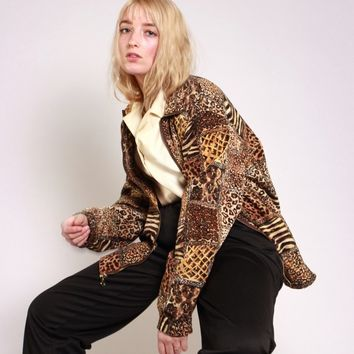 Mixed Animal Print Jacket / L