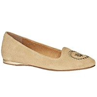 Rebecca Suede Flat in Sand by Jack Rogers - FINAL SALE