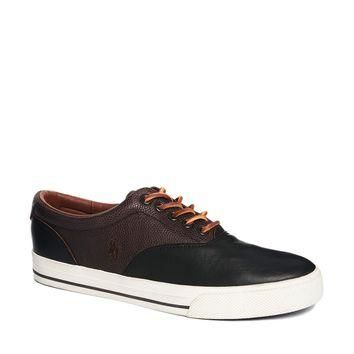 Polo Ralph Lauren Vaughn Leather Plimsolls