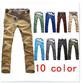 Men's Stylish Straight Slim Fit Casual Trousers
