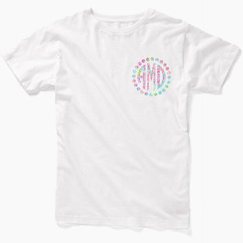 Lilly Pulitzer Inspired Monogram Shirt, Lilly Pulitzer Shirt, Monogram shirt, Monogram Tee, Personalized Shirt, Lilly Monogram Shirt