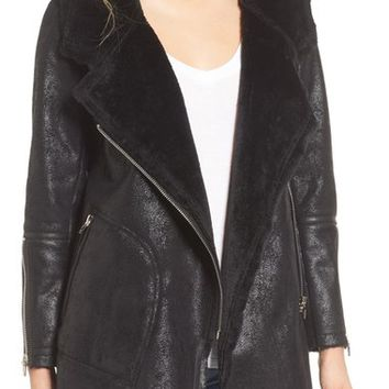 BLANKNYC No Pain Faux Leather Jacket with Faux Fur Lining | Nordstrom