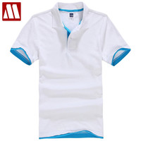 Summer cotton short sleeve polo men shirt Men's clothing couple slim shirts design for lovers
