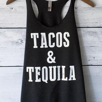 Tacos And Tequila Tank Top Racerback