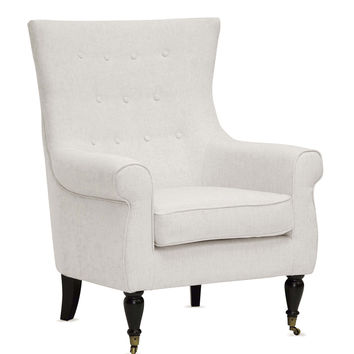 Design Studios Osmaston Accent Chair - Cream/Tan