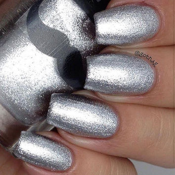 Seventy Silver Sickles- Silver Metallic Indie Nail Polish