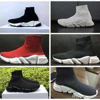 2018 Paris New Balenciaga Luxury Sock boots Speed Trainer Running Shoes High Quality Sneakers Speed Trainer Sock Race Runners black Shoes men and women Sports Shoes