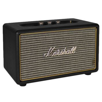 Marshall Acton 40W Bluetooth Wireless Portable Speaker w/Treble/Bass Knobs & 3.5mm Auxiliary Jack (Black/Gold) - B