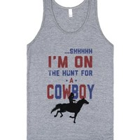 I'm on the Hunt for a Cowboy (Athletic Tank)-Athletic Grey Tank