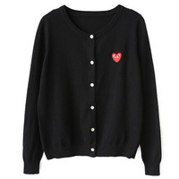 HEART CARDIGAN (3 colors)