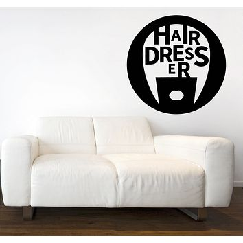 Large Vinyl Decal Hairdresser Beauty Salon Barbershop Wall Sticker Unique Gift (n643)