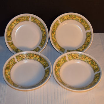Noritake Progression Festival 4 Fruit Bowls Vintage Dessert Bowls Set of 4 Cereal Hard to Find 1970s Noritake Replacement Discontinued China