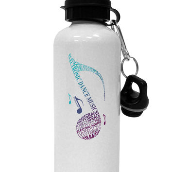 Music Note Typography Aluminum 600ml Water Bottle