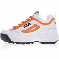 "FILA Disruptor II 2 Running Shoes ""White&Orange"" FW0165-038"