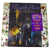 Vintage 80s Prince and The Revolution Purple Rain Soundtrack w/ Poster Album Record Vinyl LP