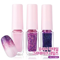 Etude House Juicy Cocktail Gradation Nails. #3 Love Violet (4g x 3EA)
