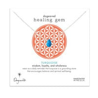 healing gem turquoise necklace, sterling silver, 16 inch