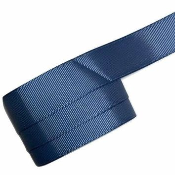 "Light navy blue 7/8"" grosgrain ribbon"