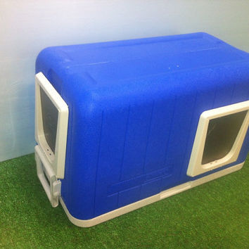 Heated Cat Pod/2 doors, Outdoor Cat House/ Heated Pad,shelter, bed, condo