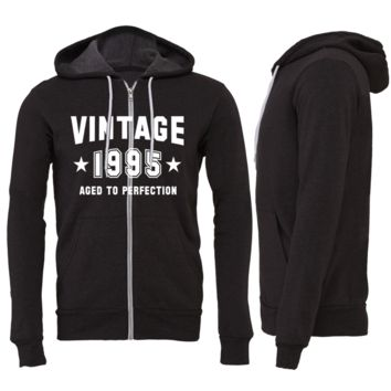Vintage 1995 Aged To Perfection Zipper Hoodie