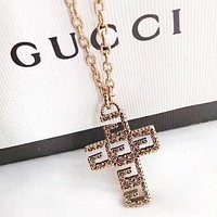 GUCCI New fashion cross letter pendant necklace women