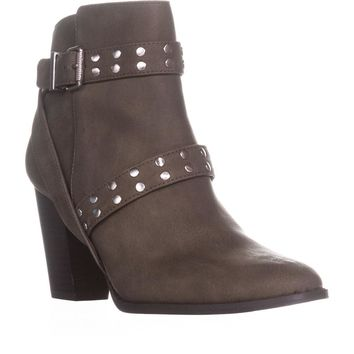 SC35 Betzie  Studded Buckle Ankle Boots, Sage, 7.5 US