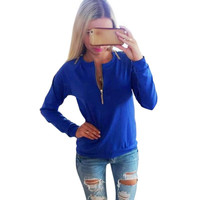 2016 New Arrive Women Lady's Autumn Winter New Pullover Long Sleeve Shirts Jumper Pullover Tops For Women Outwear