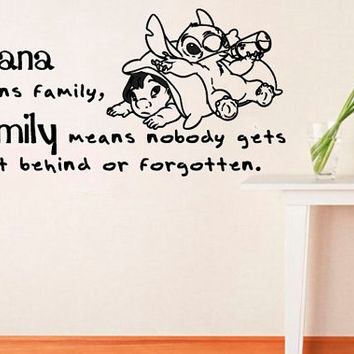 Vinyl Decals Wall  Decor Sticker Mural Ohana Means Family  L649  Unique Design   Room Nursery
