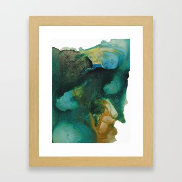 Green and Gold Framed Art Print by duckyb