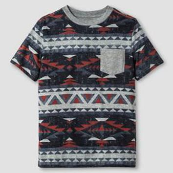 Boys' Aztec Print Pocket T-Shirt Cat & Jack™ - Gray : Target