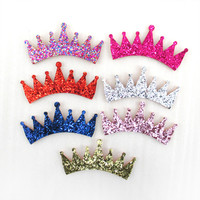 90*40mm glitter crown hair accessories 25 pieces, DIY handmade materials,wedding gift wrap,holiday decoration crafts,25Y45188