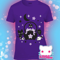 Kawaii Fairy Kei Pastel Goth Witches' Brew Graphic Tee in Multiple Colors