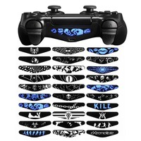 30 PCS/Lot for ps4 Stickers LED Light Bar Sticker for ps4 Console Playstation 4 Cover Skin Sticker for Sony PlayStation 4