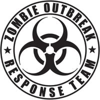 Zombie Outbreak Response Team Car Window Laptop Vinyl Decal Sticker The Walking Dead Apocalypse Select Color & Size