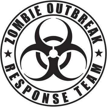 Zombie outbreak response team car window laptop vinyl decal sticker the walking dead apocalypse select color