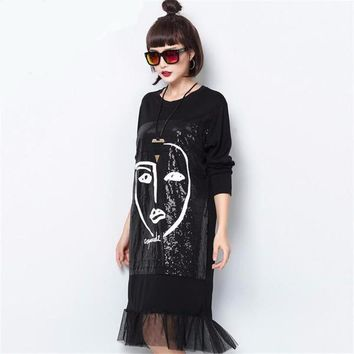 STREET ROCK PORTRAIT DRESS