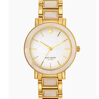 kate spade new york Large Mother-of-Pearl Gold Gramercy Watch - Gold/W