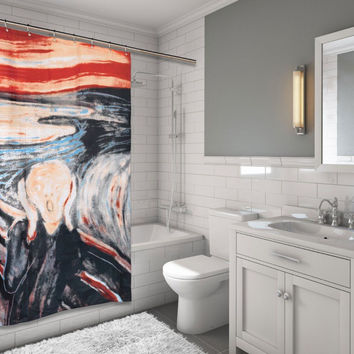 "unique Artsy Classic The Scream Edward Munch Fabric Shower Curtain 72"" X 70"""